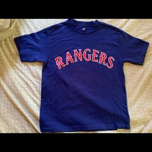 Texas Rangers Majestic Tee Youth Size Medium